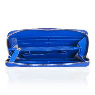 Кожаный кошелёк Michael Kors Jet Set Travel blue