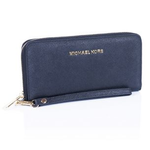 Кожаный кошелёк Michael Kors Jet Set Travel black