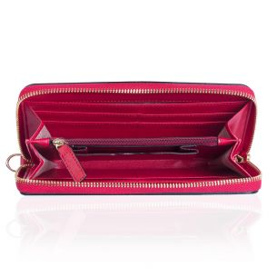 Кожаный кошелёк Michael Kors Jet Set Travel cherry