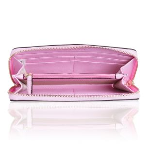 Портмоне Michael Kors Saffiano Leather Continental pink