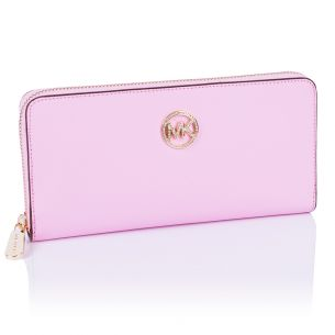 Женский кошелёк Michael Kors Diamond Continental pink