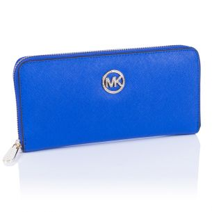 Женский кошелёк Michael Kors Diamond Continental blue