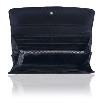 Кожаный кошелёк Chanel Flap Wallet Calfskin Black
