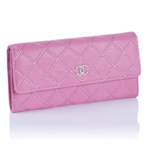 Женский кошелёк Chanel Flap Wallet Calfskin Pink