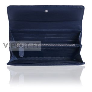 Кошелёк Chanel Flap Wallet Calfskin Dark Blue