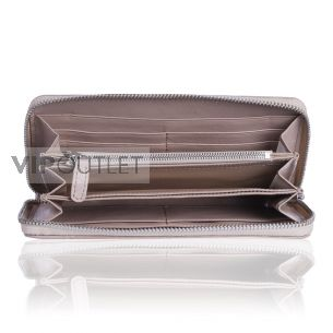 Кожаный кошелёк Chanel Zip Wallet Calfskin Beige