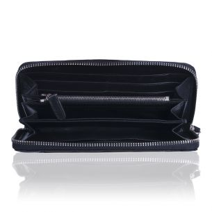 Кожаный кошелёк Chanel Zip Wallet Calfskin Black