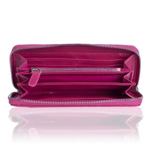 Кожаный кошелёк Chanel Zip Wallet Calfskin Fuscia