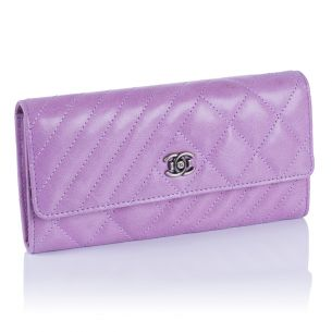 Женский кошелёк Chanel Quilted Flap Wallet lilac