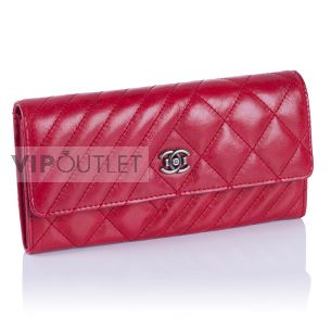 Женский кошелёк Chanel Quilted Flap Wallet red