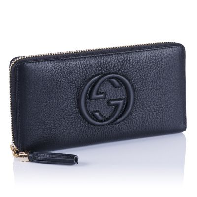 Женский кошелёк Gucci GG Calfskin Zip Wallet black