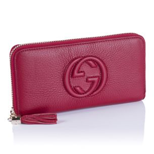 Женский кошелёк Gucci GG Calfskin Zip Wallet wine