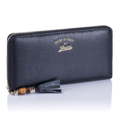 Женский кошелёк Gucci Bamboo Zip Wallet black