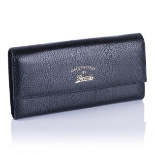 Женский кошелёк Gucci Calfskin Flap Wallet black