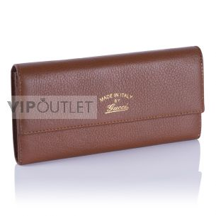 Женский кошелёк Gucci Calfskin Zip Wallet brown
