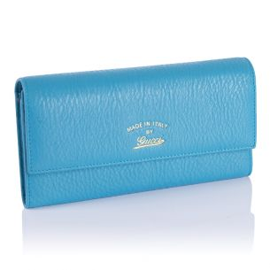 Женский кошелёк Gucci Calfskin Zip Wallet blue