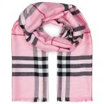 "Тёплый шарф Burberry ""Check Scarf"" розовый"