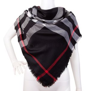 "Тёплая шаль Burberry ""Check Shawl"" чёрная"