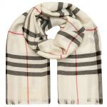 "Тёплый шарф Burberry ""Check Scarf"" белый"