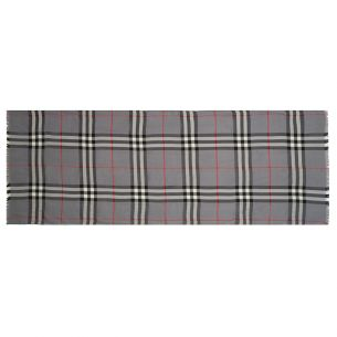 "Тёплый шарф Burberry ""Check Scarf"" серый"