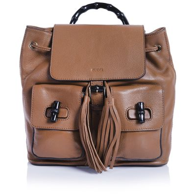 Рюкзак Gucci Bamboo Backpack Brown