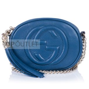 Сумка-мини на цепочке Gucci Soho Mini Navy