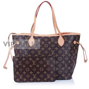 Женская сумка Louis Vuitton Neverfull MM Cherry