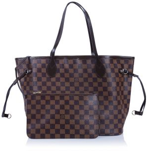 Женская сумка Louis Vuitton Neverfull MM Red