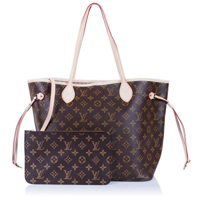 Женская сумка Louis Vuitton Neverfull MM Beige