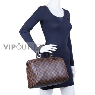 Женская сумка Louis Vuitton Speedy 30 Damier Ebene