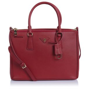 Женская сумка Prada Galleria Saffiano Bag red
