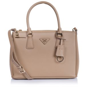 Женская сумка Prada Galleria Small Saffiano Bag beige