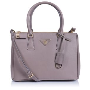 Женская сумка Prada Galleria Small Saffiano Bag gray