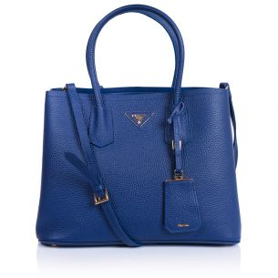 Женская сумка Prada Double Bag Calf blue