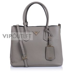 Женская сумка Prada Double Bag Calf gray
