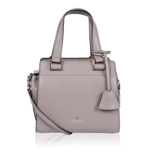 Женская сумка Valentino Garavani Double Handle Small Taupe